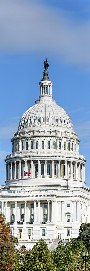 Vertical Photograph - Low Angle View Of Capitol Building by Panoramic Images