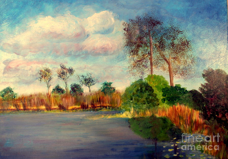 Beautiful Painting - Loxahatchee Nature Preserve by Donna Walsh