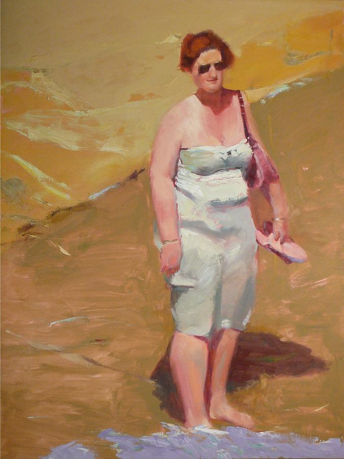 Beach Painting - Lunch Time By the Sea by Irena  Jablonski