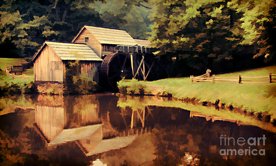 Antique Photograph - Mabrys Mill by Darren Fisher