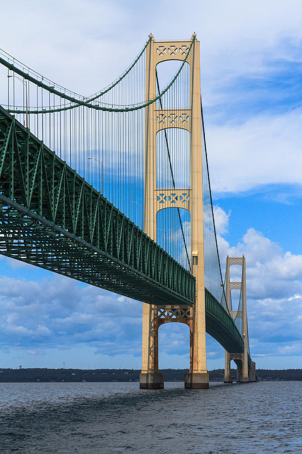 Michigan Photograph - Mackinac Bridge by Cindy Lindow