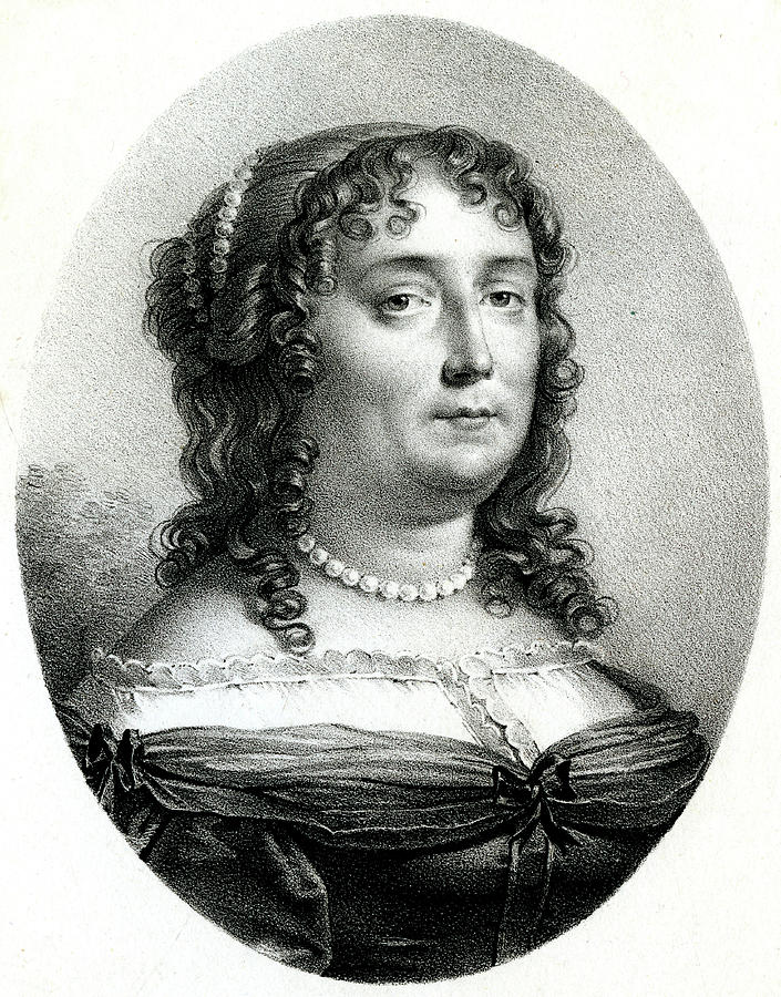 Scudery Drawing - Madeleine De Scudery  French Writer by Mary Evans Picture Library