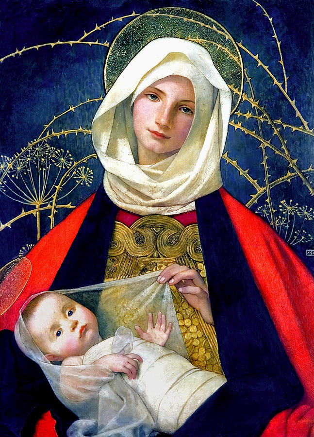 Madonna And Child Painting - Madonna and Child by Marianne Stokes