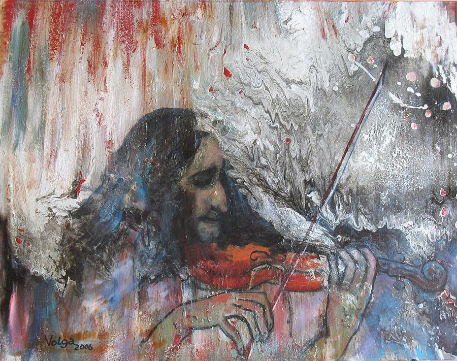 Portrait Man Painting - Maestro Paganini by Wolga Yaguzhinskaya