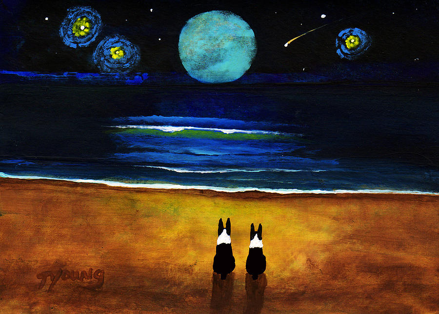 Boston Painting - Magical Night by Todd Young