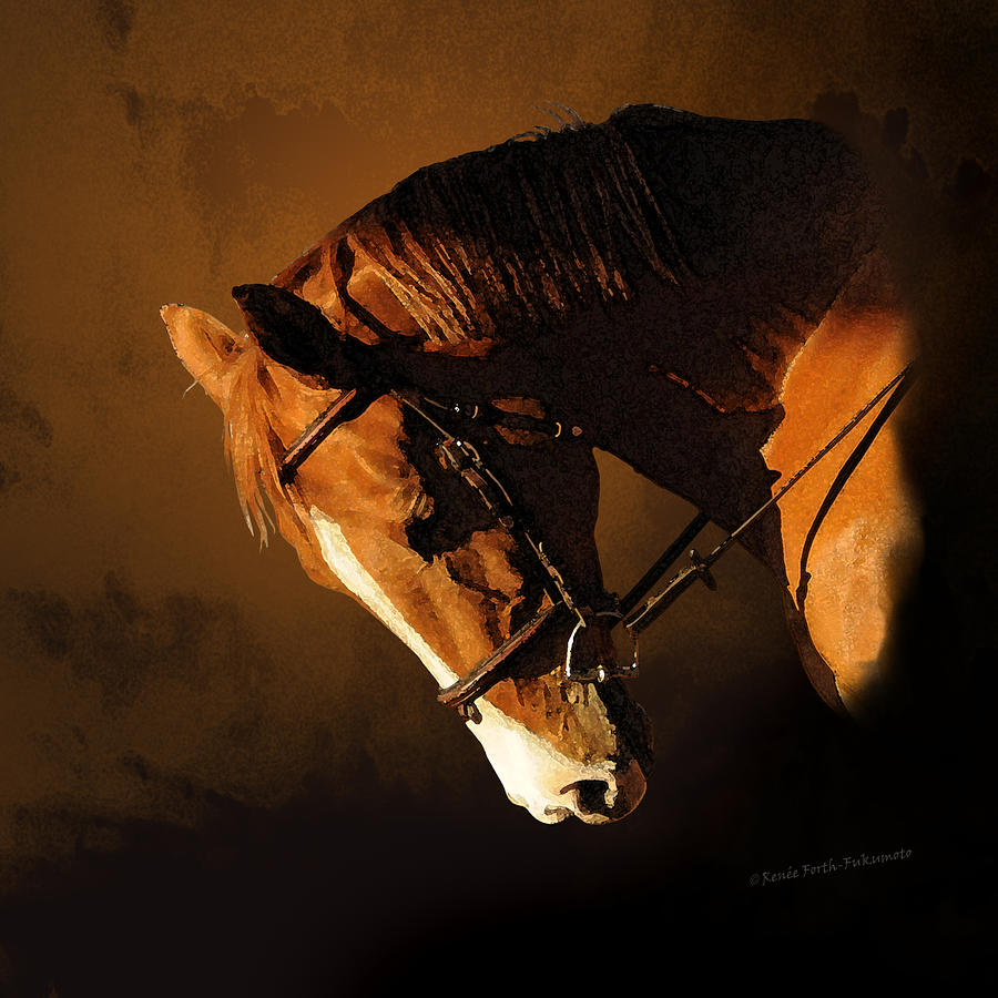 Magnificent Chestnut Trakehner Horse  by Renee Forth-Fukumoto