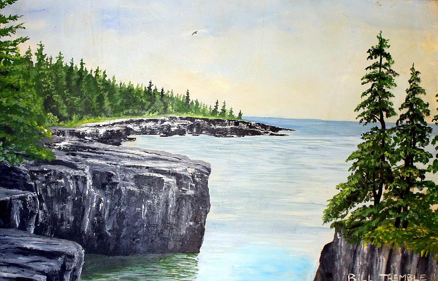 Landscape Painting - Maine Coast by William Tremble