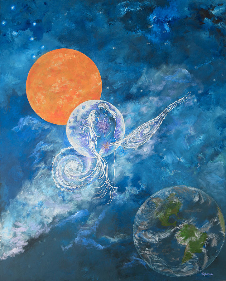 Universe Painting - Making Love To The Universe - Infinitude by Judy M Watts-Rohanna