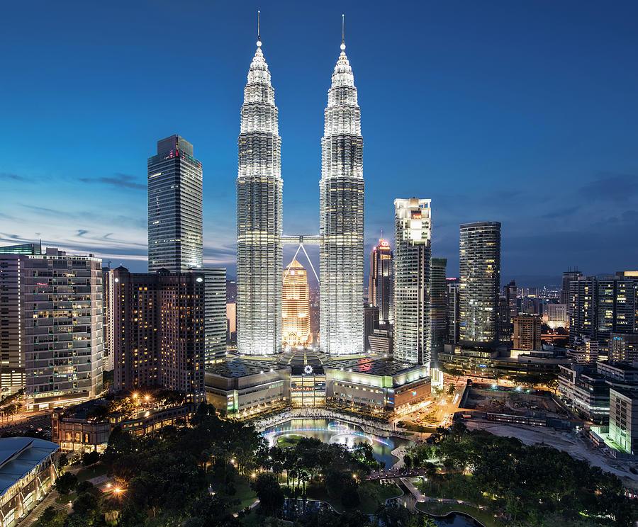 Malaysia, Kuala Lumpur, Petronas Towers Photograph by Martin Puddy