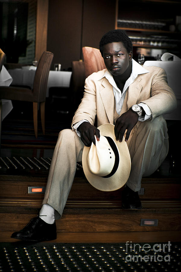 Accessories Photograph - Male Fashion Model In White Suit by Jorgo Photography - Wall Art Gallery