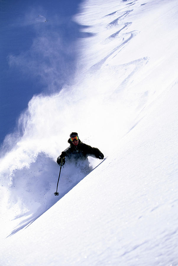 Action Photograph - Man Skiing In Colorado by Scott Markewitz