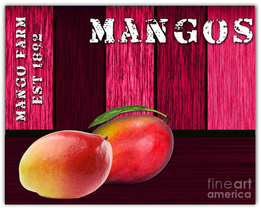 European Market Mixed Media - Mango Farm Sign by Marvin Blaine