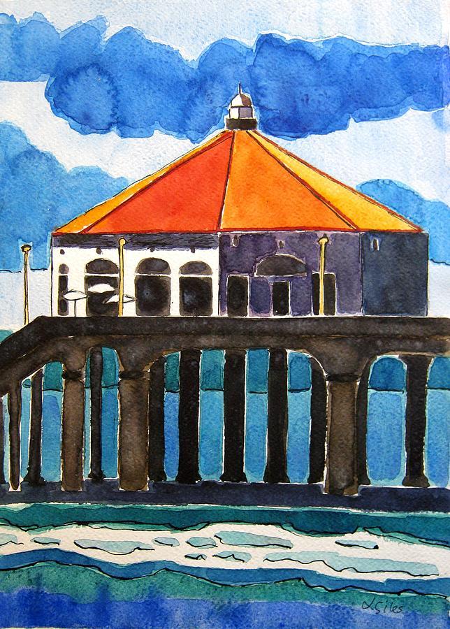 Manhattan Beach Painting - Manhattan Beach California by Lesley Giles