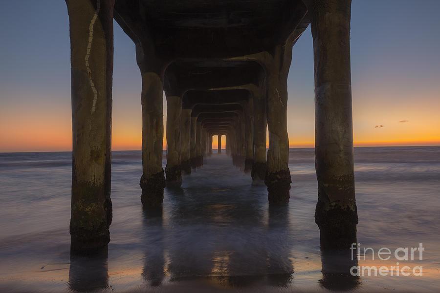 Pier Photograph - Manhattan Beach Pier by Shishir Sathe
