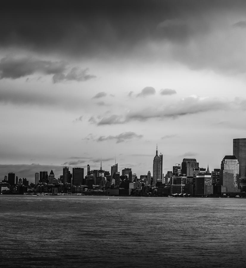 Manhattan Skyline Left Triptych Photograph