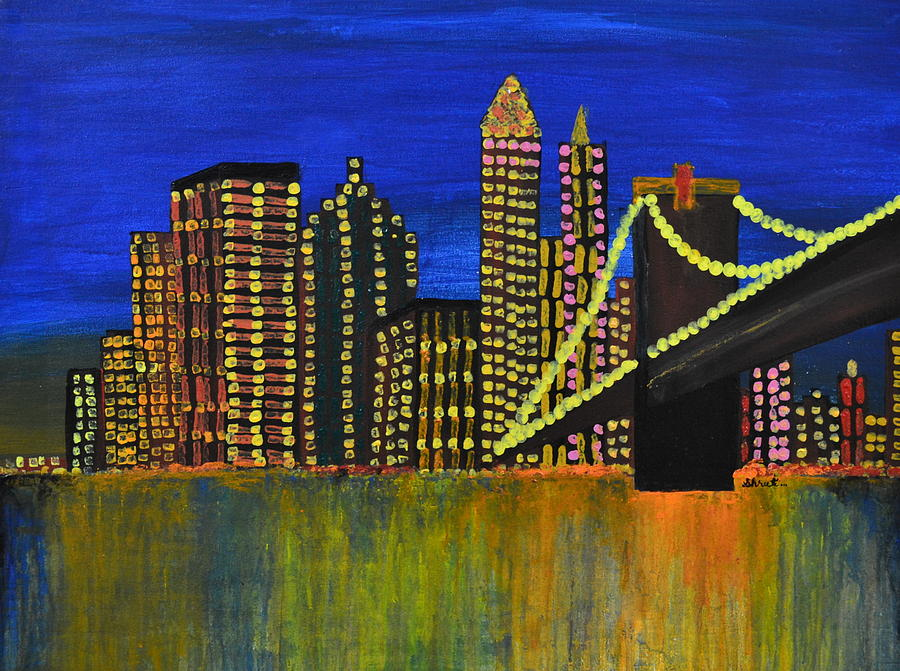 Manhattan Skyline Painting - Manhattan Skyline by Shruti Prasad
