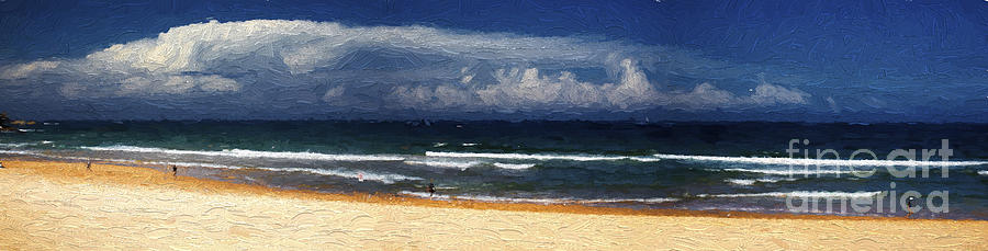 Manly Beach Photograph - Manly Beach Panorama by Sheila Smart Fine Art Photography