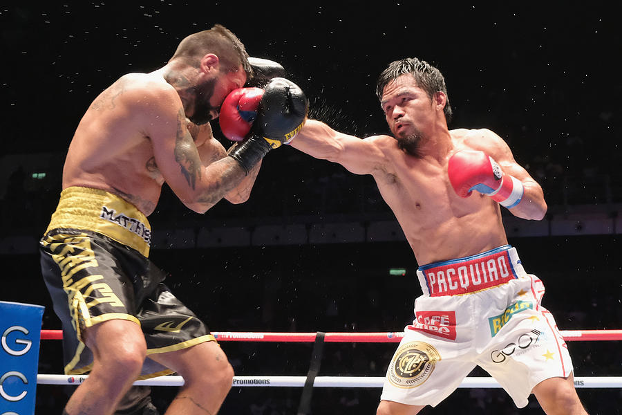 Manny Pacquiao v Lucas Matthysse - WBA Welterweight Title Bout Photograph by How Foo Yeen