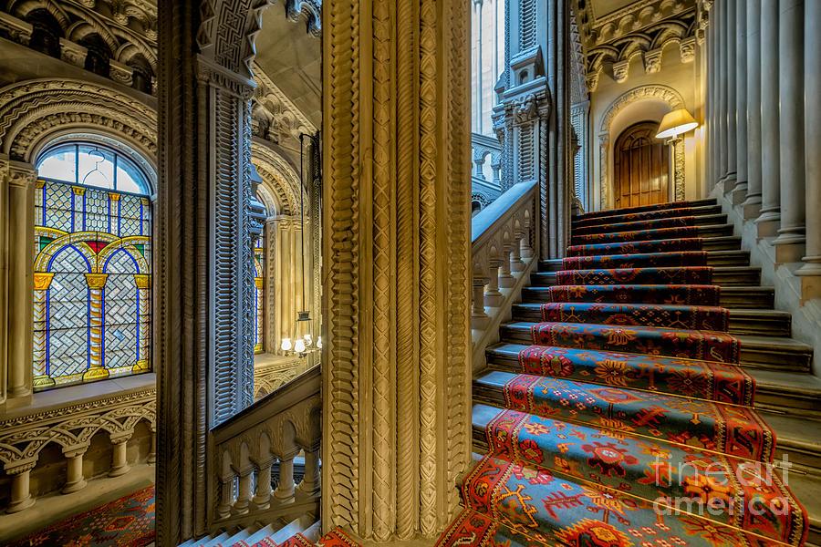 British Photograph - Mansion Stairway by Adrian Evans