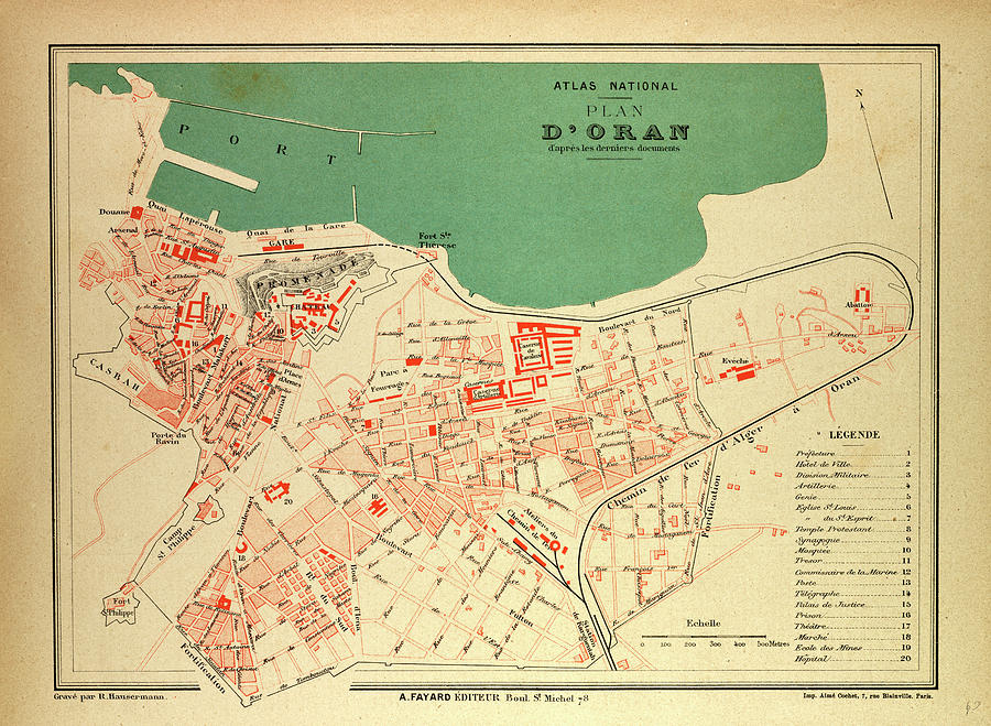 Map Of France In French.Map Of Oran France By French School