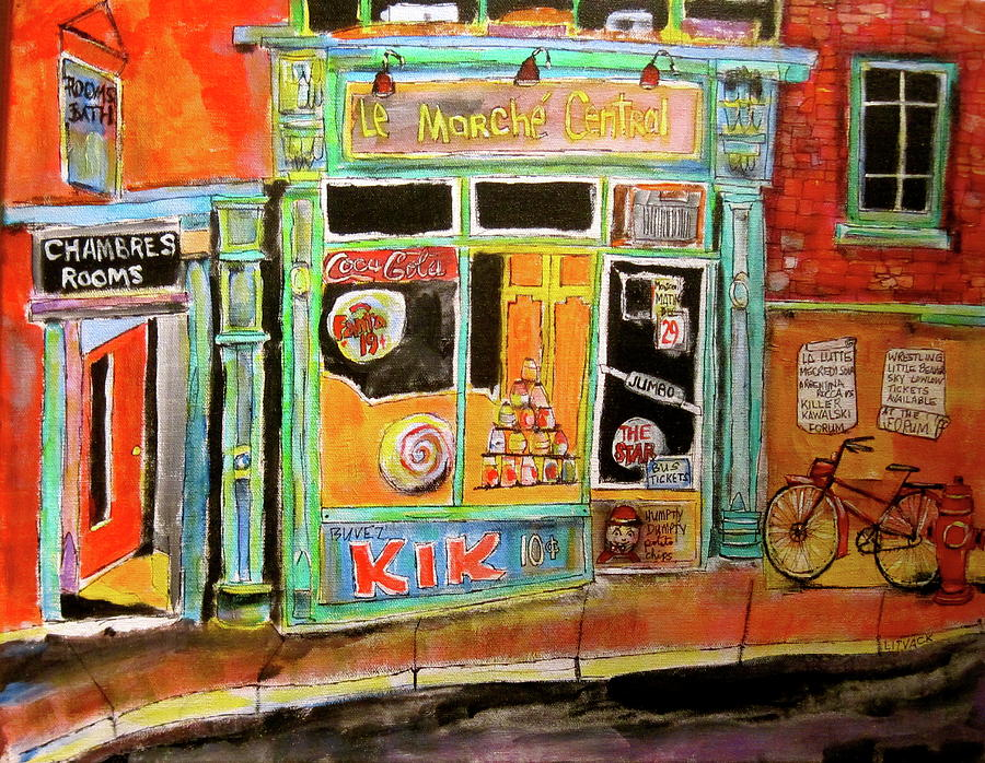 Bicycle Painting - Marche Central by Michael Litvack