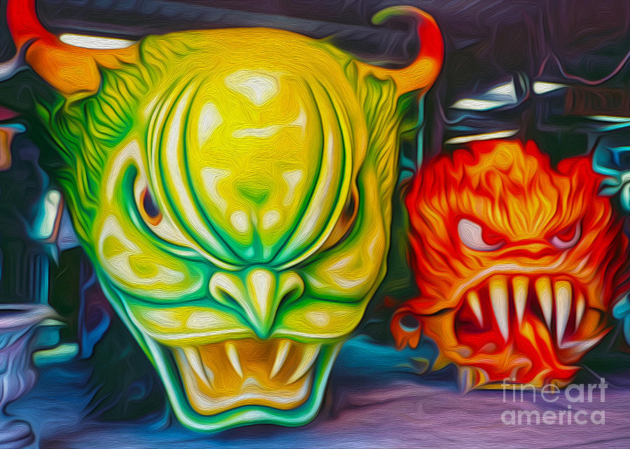 Mardi Gras Photograph - Mardi Gras Devils by Gregory Dyer