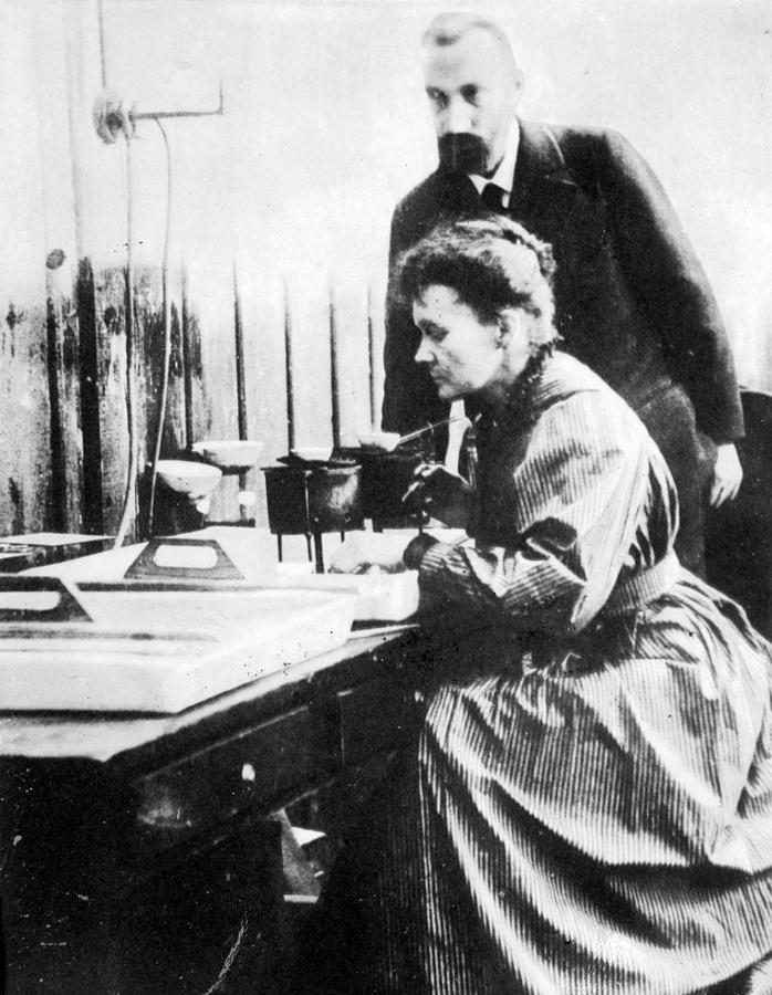 1904 Photograph - Marie And Pierre Curie by Granger