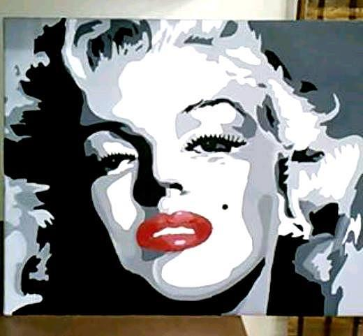 Black And White Painting - Marilyn by Abbey Erlanson