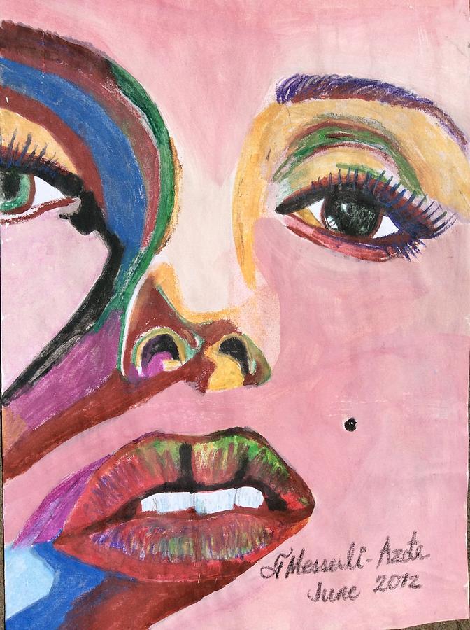 Portrait Painting - Marilyn by Fladelita Messerli-