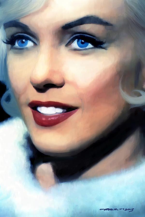 Marilyn Monroe Digital Art - Marilyn Monroe Large Size Portrait by Gabriel T Toro