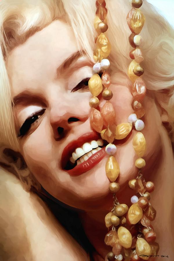 Marilyn Monroe Digital Art - Marilyn Monroe Large Size Portrait by Gabriel T Toro