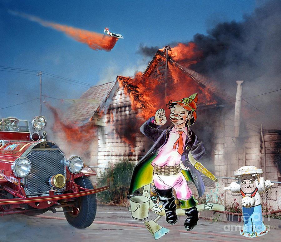 Legendary Digital Art - Mario Moreno As Cantinflas In El Bombero Atomico  by Jim Fitzpatrick