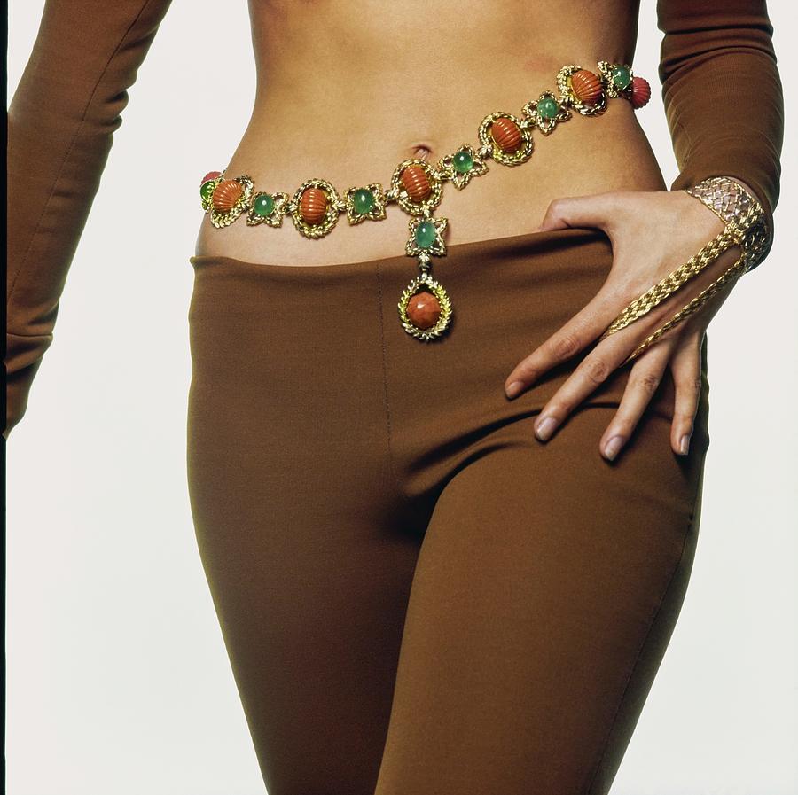 Marisa Mell Wearing David Webb Photograph by Bert Stern