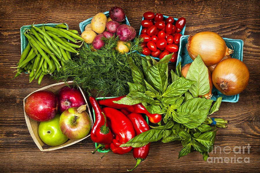 Local Photograph - Market Fruits And Vegetables 1 by Elena Elisseeva