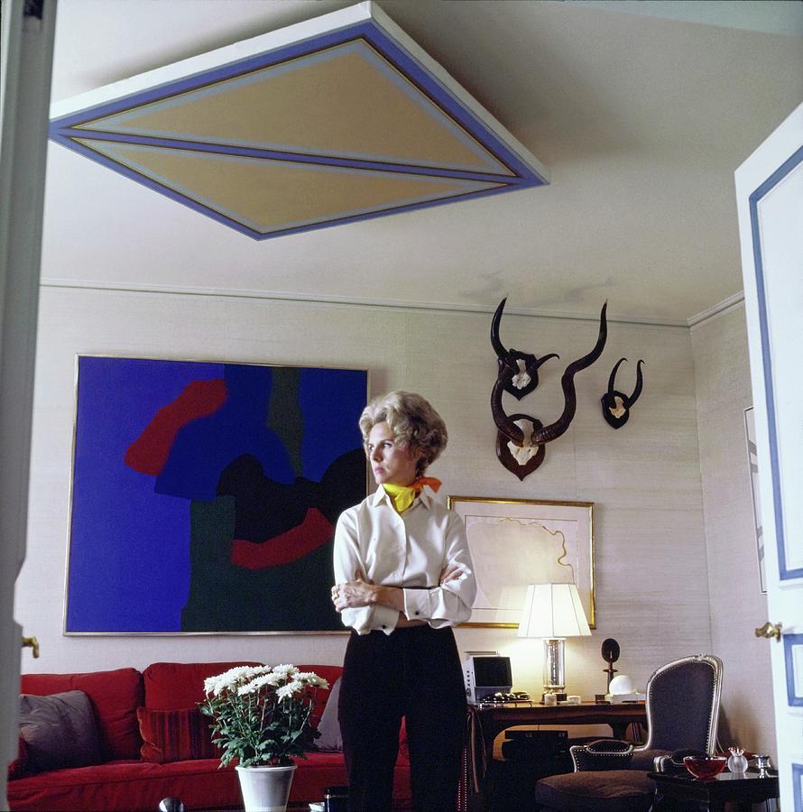 Accessories Photograph - Marquesa Carol De Portago At Home by Horst P. Horst