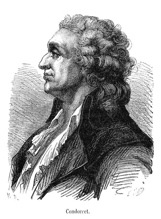 18th Century Painting - Marquis De Condorcet (1743-1794) by Granger