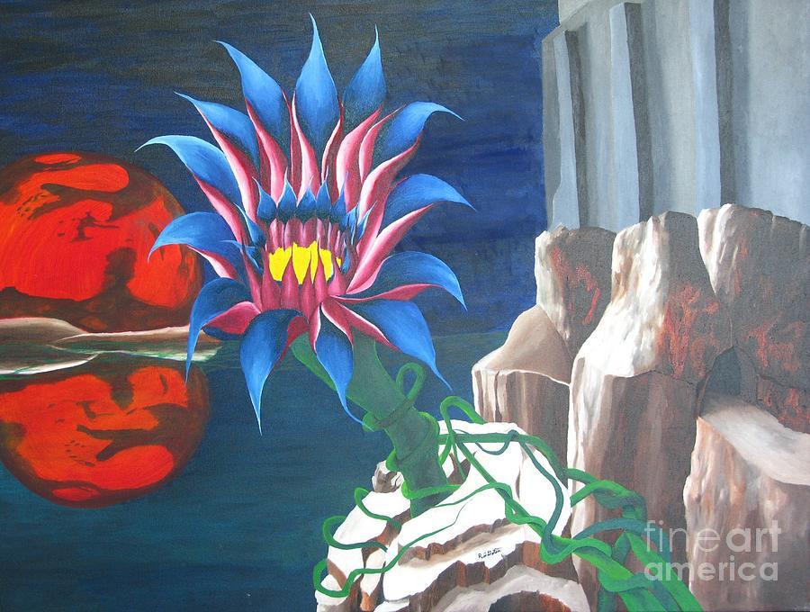 Surrealism Painting - Mars Rising by Richard Dotson