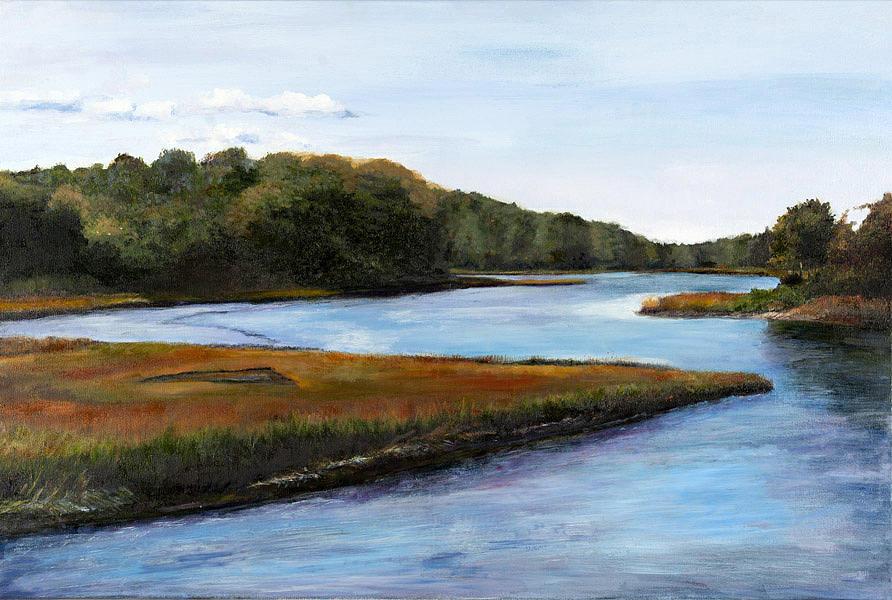 Cape Cod Pastel - Marshside by Cindy Plutnicki