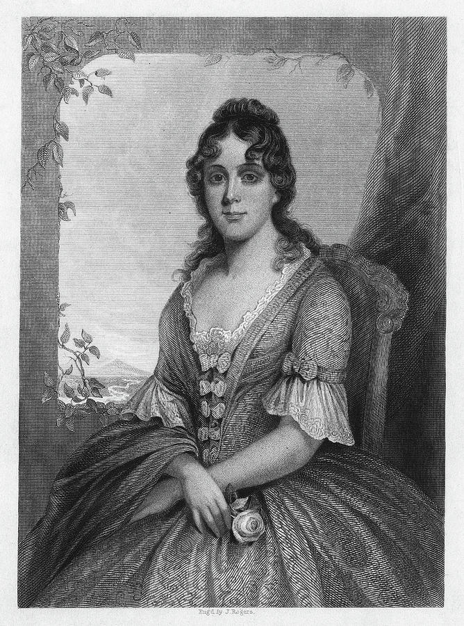 19th Century Painting - Martha Jefferson Randolph (1772-1836) by Granger