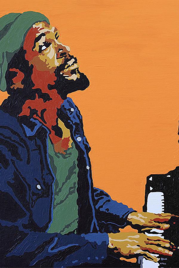 Marvin Gaye Painting - Marvin Gaye by Rachel Natalie Rawlins