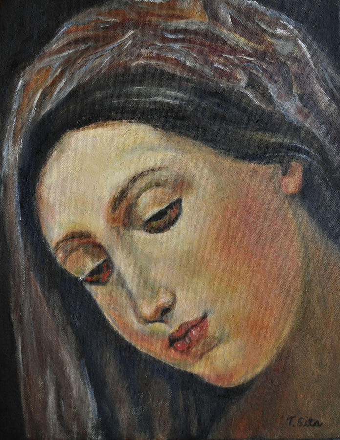 Mary Painting - Mary by Terry Sita