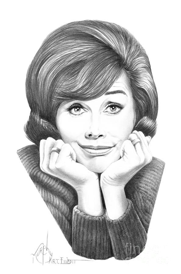 Mary Tyler Moore Drawing By Murphy Elliott
