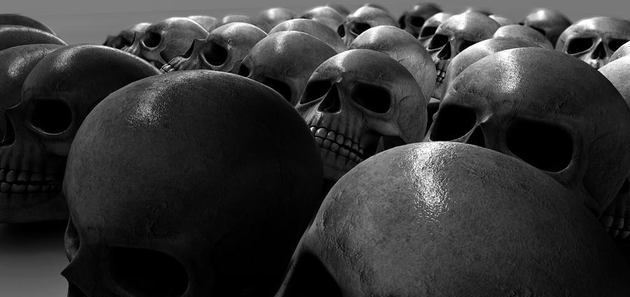 Anatomy Digital Art - Massacre Of Skulls by Allan Swart