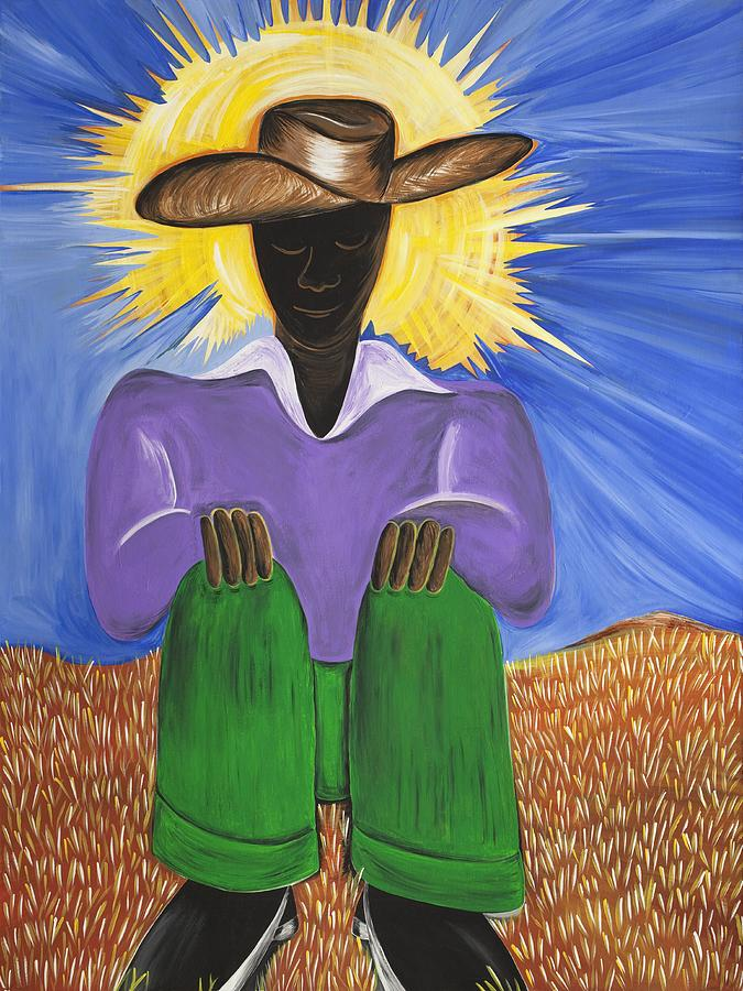 Gullah Art Painting - Master Of Thoughts by Patricia Sabree