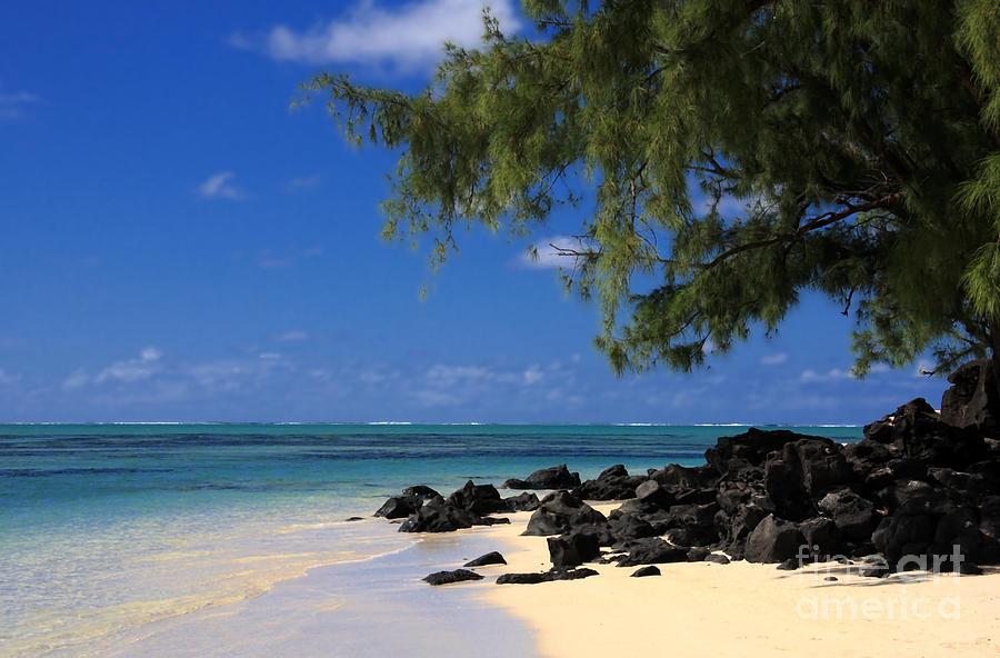 Mauritius Photograph - Mauritius Blue Sea by IB Photography