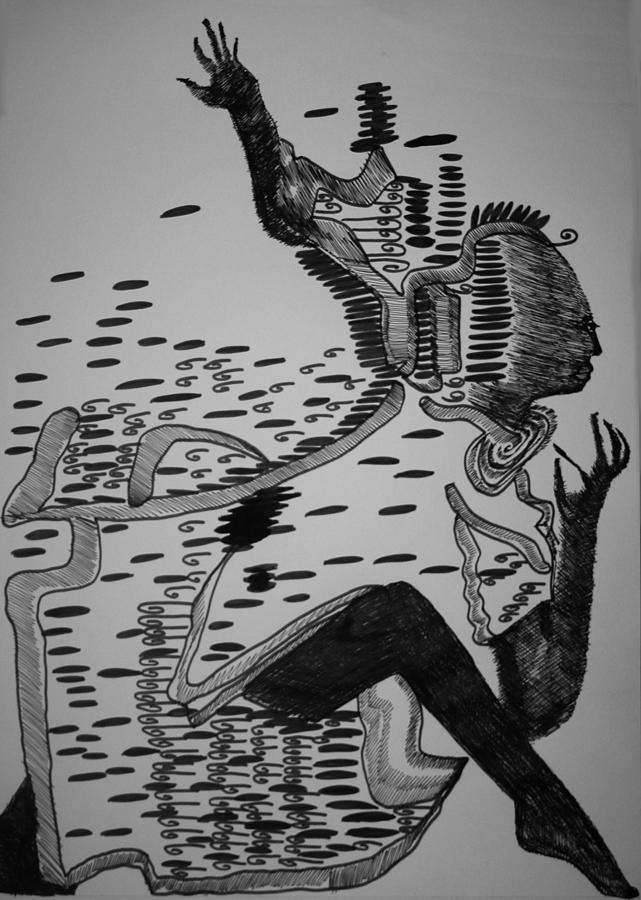 Jesus Drawing - Mbakumba Dance - Zimbabwe by Gloria Ssali