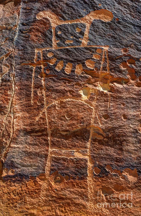 Petroglyph Photograph - Mckee Springs Petroglyph - Utah by Gary Whitton