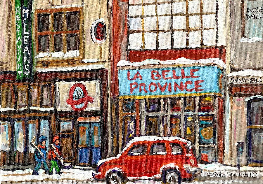 Montreal Painting - Mcleans Irish Pub Montreal by Carole Spandau