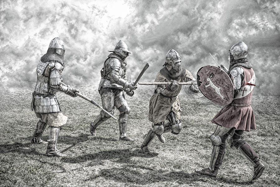 Viking Battle Painting Medieval Battle Photog...