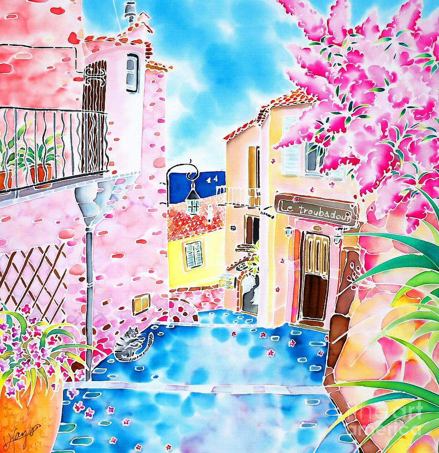 France Painting - Mediterranean Wind by Hisayo Ohta
